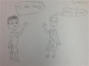 Another Student portrayal of me
