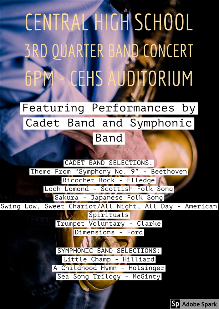 Central High School 3rd Quarter Band Concert