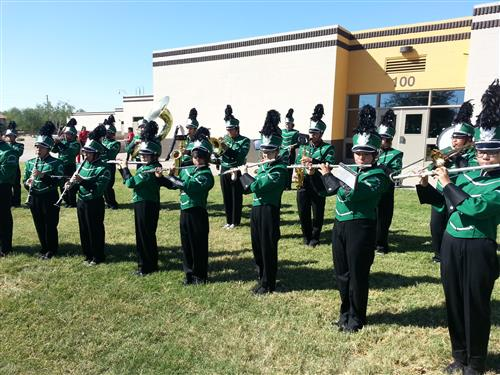 Marching Band at a competition