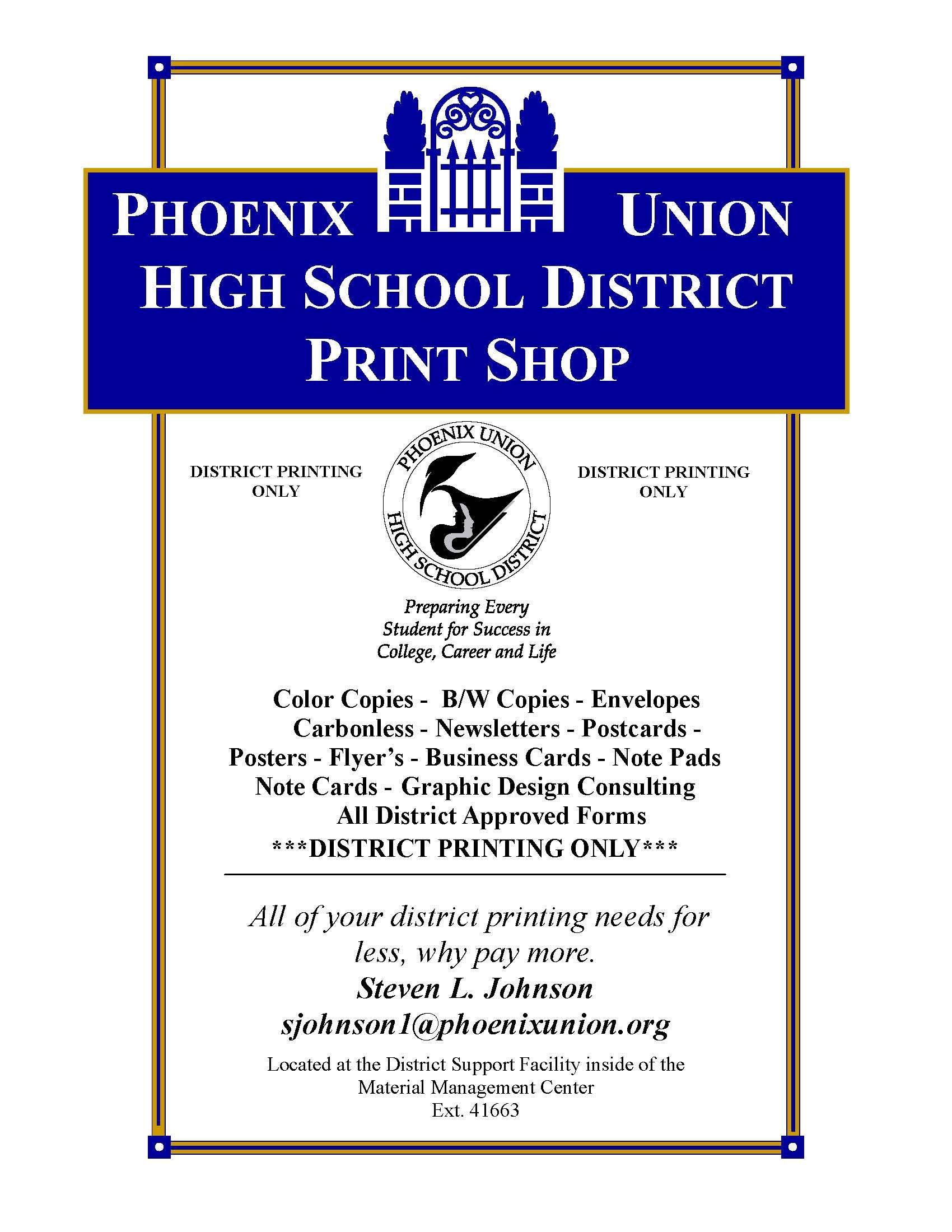 Purchasing Division / Print Shop