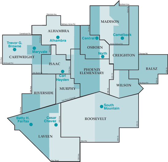 Partner Elementary Districts map