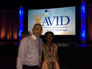Attending summer AVID institute where one of our own North High students was chosen as one of the student speakers.